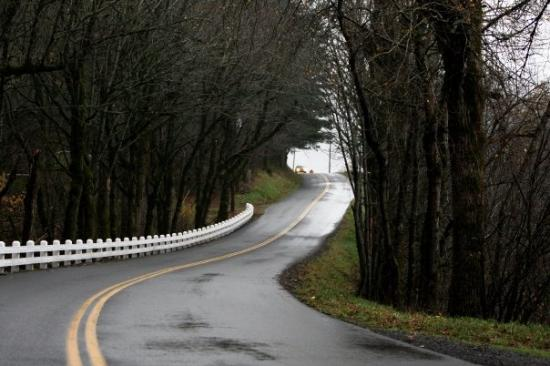 Corbett, ออริกอน: Country Road by the Columbia River