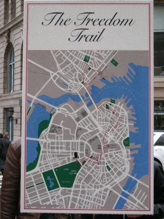 A map of the freedom trail it takes a long time to do  Picture