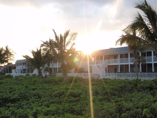 Sanibel Arms West Condominium: Sunset over the condo's