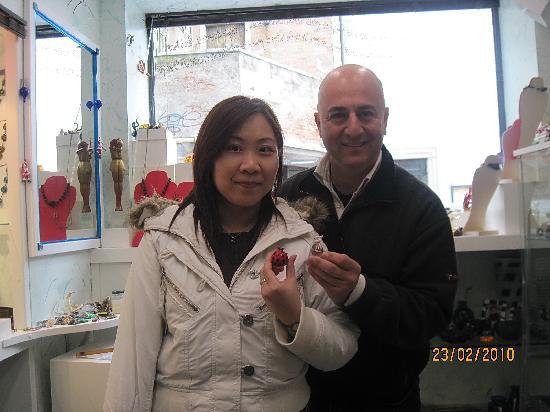 Artigianato d'Arte di Vianello Mauro: Me and my ladybird posing with Mauro