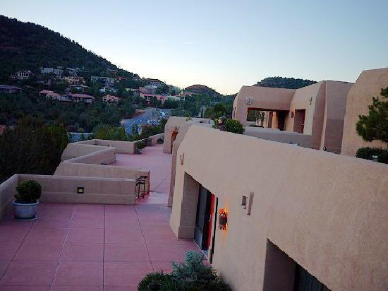 Best Western Plus Inn of Sedona: 広いテラスからの眺めがとてもすばらしい