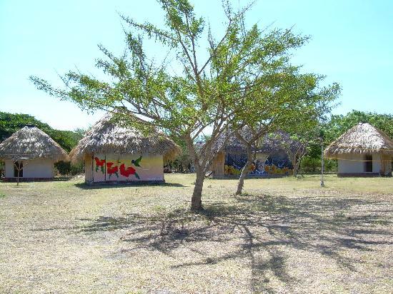Rancho Esperanza: Bamboo huts at the Rancho