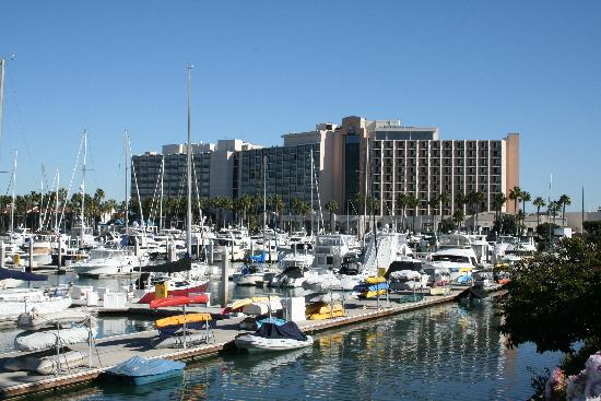 Sheraton San Diego Hotel & Marina: Looking back at Hotel from Marina