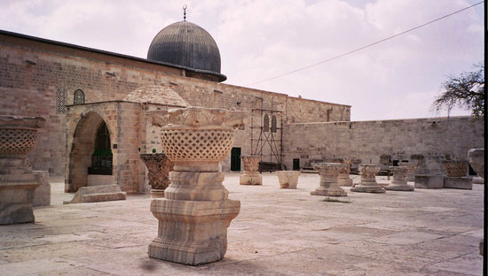 Jeruzalem, Israël: Crusader remains on the Temple Mount