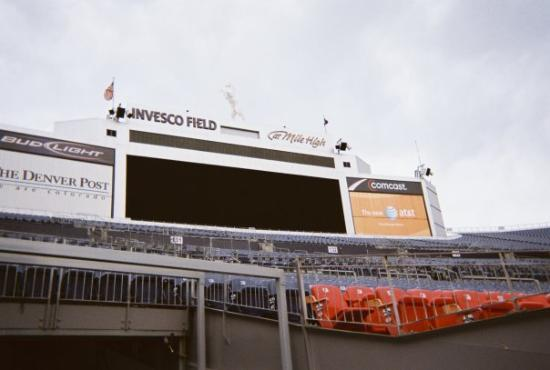 Sports Authority Field at Mile High: Compare to The Cowboys, The Broncos' screen looks tiny.