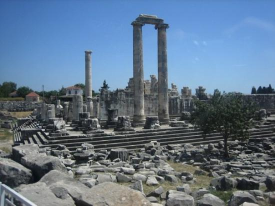 Didim, Turquía: Temple of Apollo/Dionysis depending on the goat