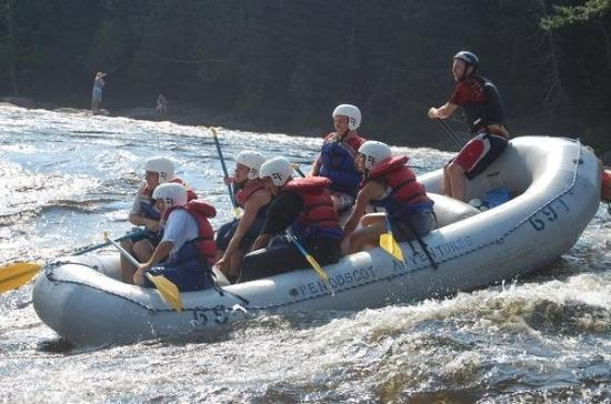 Millinocket, ME: White Water Rafting the Penobscot for the second time....I'm in back left