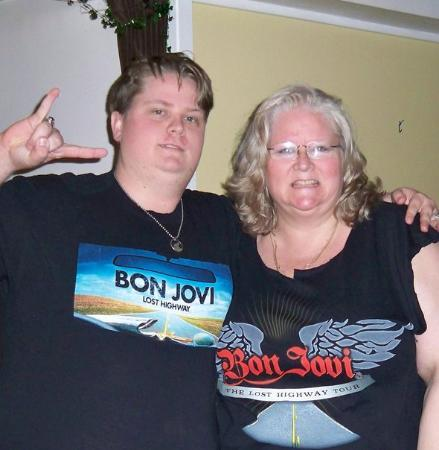 SAP Center: Mom and Son bonding Feb 22 1010  - our 2nd Bon Jovi Concert..we lost our voices and couldn't hea