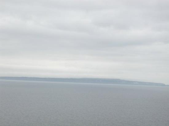 Mackinac Island from the bridge