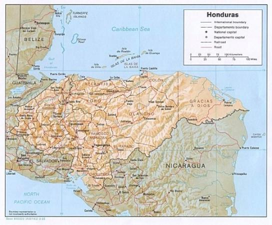 Map of Honduras, see if you can find Siguatepeque our home town in Honduras?