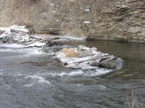 Tendoy, ID: Icy water of the Lemhi River