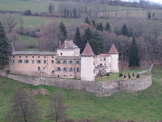 Chateau de Pramenoux : Castle from the nearby hill
