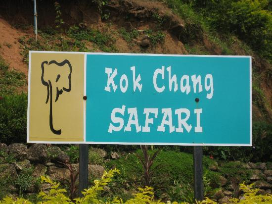Kok Chang Safari Elephant Trekking: Welcome sign so you know you are at the right place