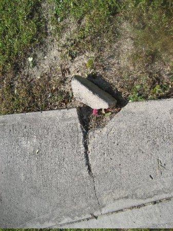 Club Med Turkoise, Turks & Caicos: Broken concrete walkway