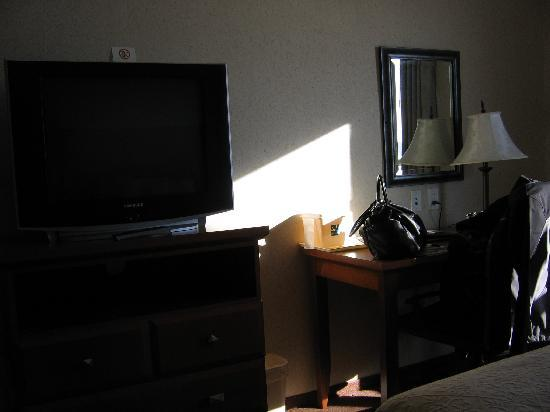 Quality Inn & Suites: Television and desk