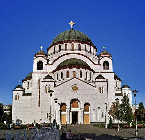 Belgrade, Serbie : Hram Sveti Sava - den största ortodoxa kyrkan i världen