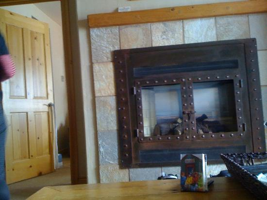 Mountain Lodge Telluride: double sided fireplace!