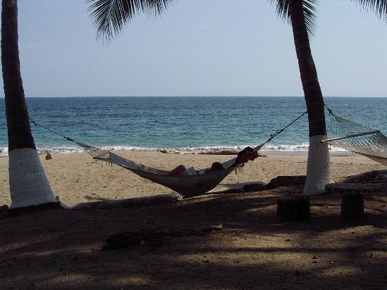 Tango Mar Beachfront Boutique Hotel & Villas: our exercise for the day - how can you get into a hammock without nearly tipping out?