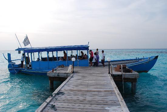 Gasfinolhu Island Resort : Partenza x il tramonto