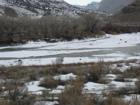 Grand Junction, CO: Half frozen Colorado River