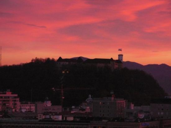 Sunset, 4 November 2006, Ljubljana Castle