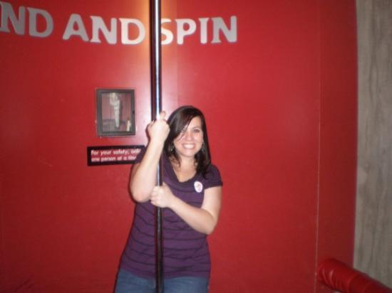 Science Museum of Virginia: ME! That thing was the  MOST fun. You spin around on this platform under the pole!!