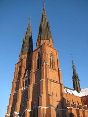 Uppsala Domkyrka: uppsala church, the highest in Scandinavia