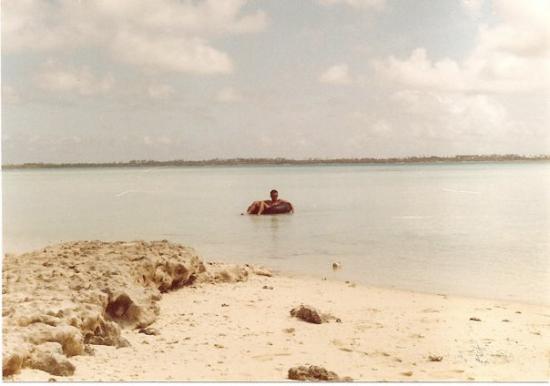 Still hard at work in the Diego Garcia Lagoon.