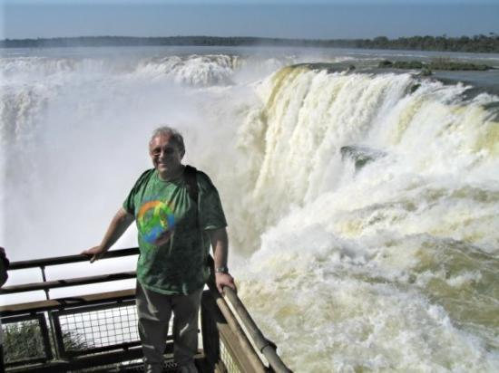 """Iguazu National Park, Argentina: At the top of """"Garganta del Diablo"""" (Devil's Throat) at Iguazú Falls at border of Argentina and"""