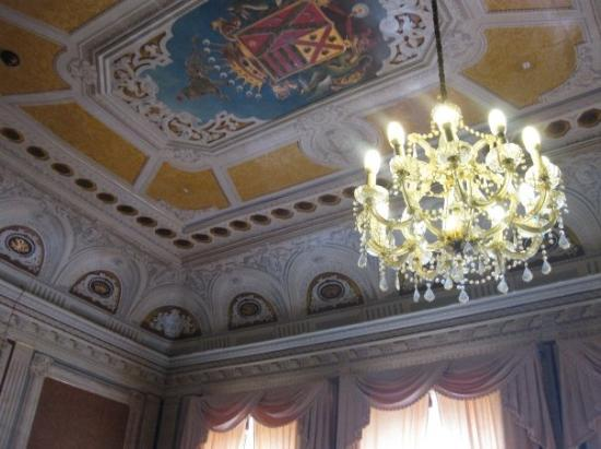 Ponta Delgada, Portugal: A mansion turned high school.  I liked the ceiling.