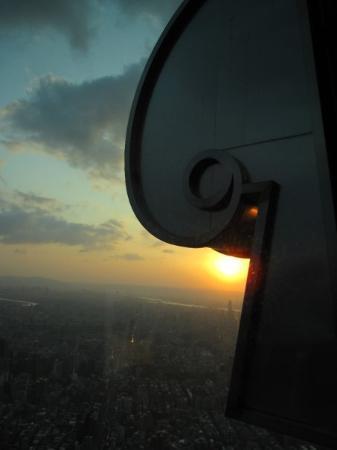 Corner of building - Taipei 101 - sunset view
