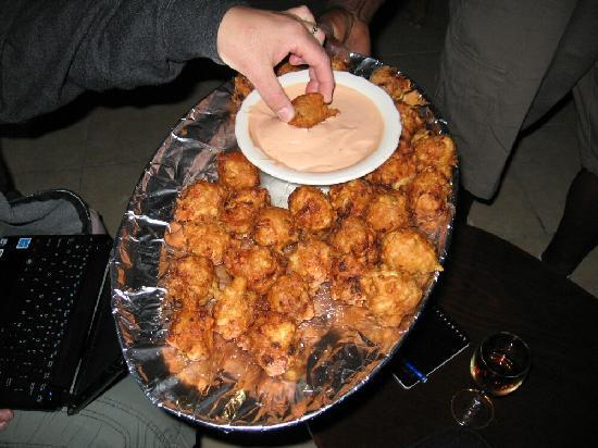 Andros: Conch Fritters every night at 6:30 PM, don't be late