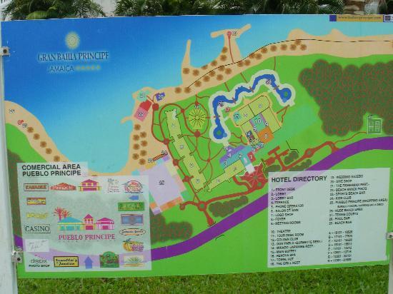 Grand Bahia Principe Jamaica: Hotel grounds map