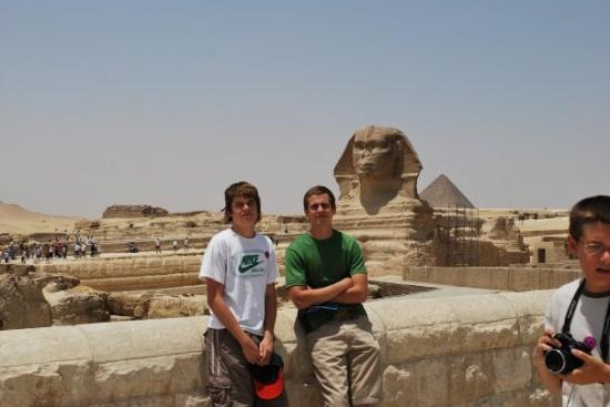 Sphinxen: Chad, Brice and their Great friend.  Egypt