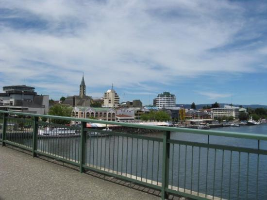 crossing the river in Valdivia