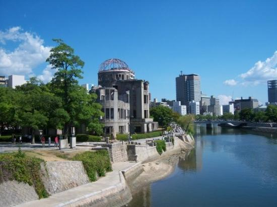 A-Bomb hit Hiroshima and this was the last building standing. history lesson lol
