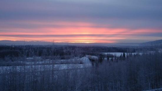 The view from near Shalom's dorm out over Fairbanks.