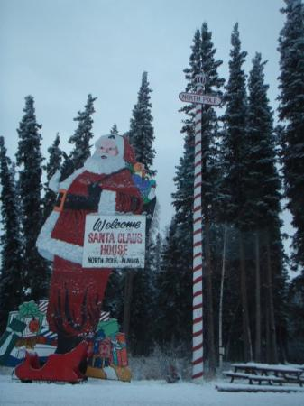 Fairbanks, AK: North Pole, Alaska - American kids send their Santa letters here. Santa was out that day - Monda