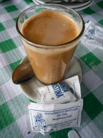 Benalmadena, Spania: The best cup of coffee in Costa Del Sol, Es.