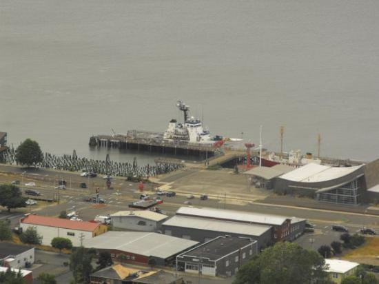 Astoria, OR: The USCGC Alert docked next to the Columbia River Maritime Museum.