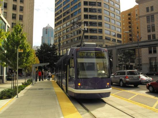 The Streetcar at Pacific Place station (Westlake Center is just a block away).