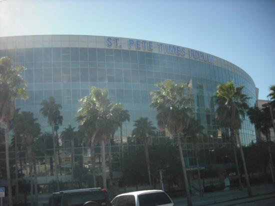 Amalie Arena: St. Pete Times Forum - Home of the Tampa Bay Lightning.