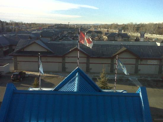 Holiday Inn Express Hotel & Suites Calgary South: View from room window. Nice flag!