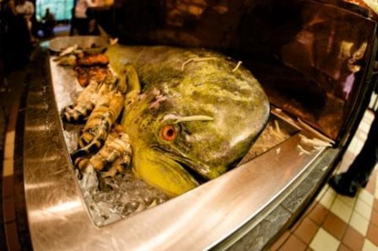 Cyprus : We recieve our fresh fish from the Atlantic and Gulf Coasts whole,so we can display it for your