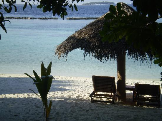 Baros Maldives: View from our villa decking