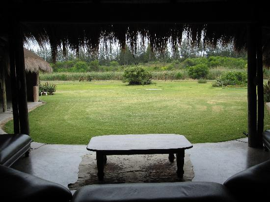 Chrislin African Lodge: View from the dining area