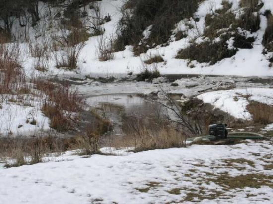 Saint Xavier, MT: High water during spring runoff