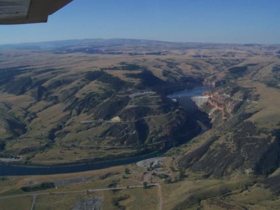 Saint Xavier, MT: The actual dam....was completed around 1963.