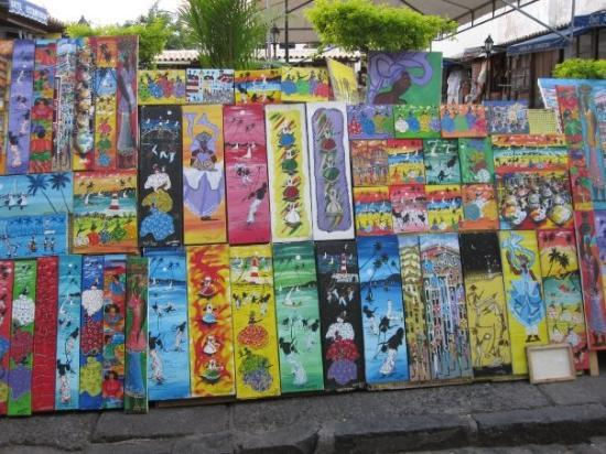 Colorful artwork from Pelourinho.
