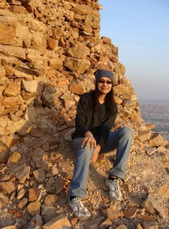 Enjoying the sunset of Ajmer